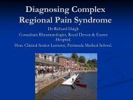 Diagnosing Complex Regional Pain Syndrome