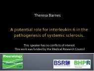 A potential role for interleukin-6 in systemic sclerosis.