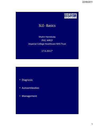 SLE- Basics - The British Society for Rheumatology