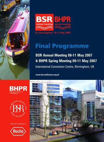 Final Programme - The British Society for Rheumatology