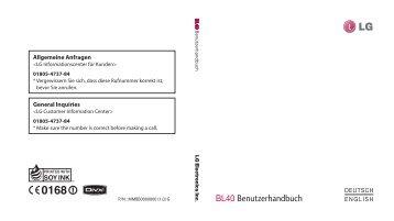 BL40 Benutzerhandbuch - Altehandys.de