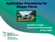 Application Procedures for Biogas Plants
