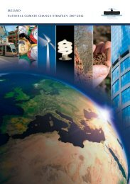 ireland national climate change strategy 2007-2012 - Department of ...