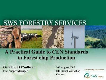A Practical Guide to CEN Standards in Forest Chip Production