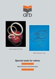 Special seals for valves - GFD - Gesellschaft für Dichtungstechnik mbH