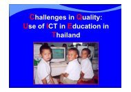 Challenges in Quality: Use of ICT in Education in Thailand - SEAMEO