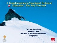 A Transformation in Vocational Technical Education-The Way Forward ...