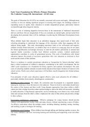 Early Years Foundations for Effective Primary Education ... - SEAMEO