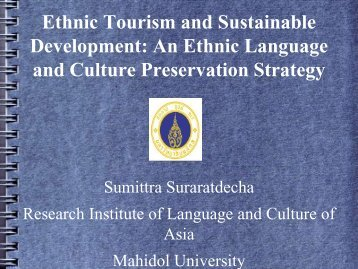An Ethnic Language and Culture Preservation Strategy