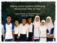 Making school systems multilingual: Moving from 'Why' to ... - SEAMEO