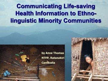 linguistic Minority Communities - SEAMEO