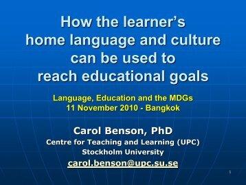 FINAL REPORT STUDY ON MEDIUM OF INSTRUCTION ... - SEAMEO