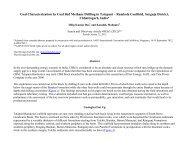 Coal Characterization by Coal Bed Methane Drilling in Tatapani ...
