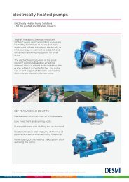 Electrically heated pumps - Desmi