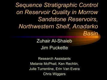 Sequence Stratigraphic Control on Reservoir Quality in Morrow ...