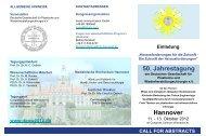 CALL FOR ABSTRACTS Hannover - Deutsche Gesellschaft für ...
