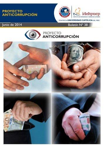 PROYECTO ANTICORRUPCIÓN Nº 38 - Junio de 2014