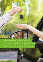 SEO bei Mietwagen-Anbietern Wer steht auf der ... - Searchmetrics