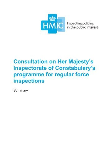 consultation-on-hmics-programme-for-regular-force-inspections-summary
