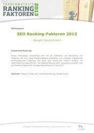 SEO Ranking-Faktoren 2013 - Searchmetrics