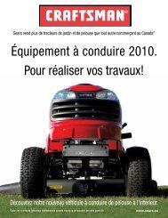 Équipement à conduire 2010. Pour réaliser vos ... - Sears Canada
