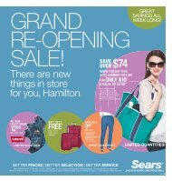 re-opening - Sears Canada
