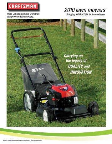 2010 lawn mowers - Sears Canada