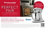Cooking event - Sears Canada