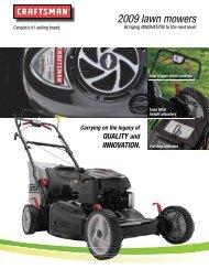 2009 lawn mowers - Sears Canada