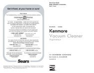 Kenmore Vacuum Cleaner - Sears Canada