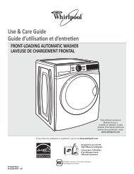 Use & Care Guide Guide d'utilisation et d'entretien - Amazon S3