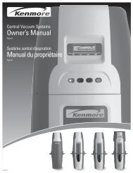 Owner's Manual Manual du propriétaire - Sears Canada