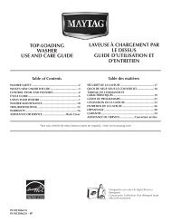 top-loading washer use and care guide laveuse à chargement par le ...