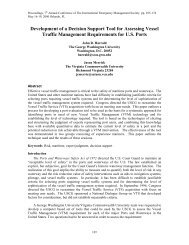 Development of a Decision Support Tool for Assessing Vessel ...