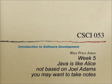 Alice in Action with Java - SEAS