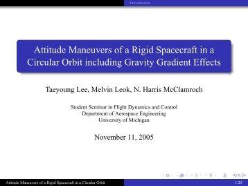 Attitude Maneuvers of a Rigid Spacecraft in a Circular Orbit ... - SEAS