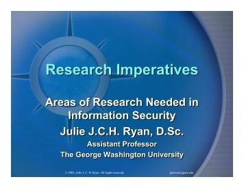 Research Imperatives - George Washington University