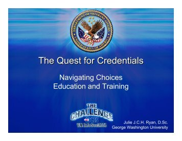 The Quest for Credentials - George Washington University