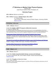 4th Workshop on Medical Cyber Physical Systems - the School of ...