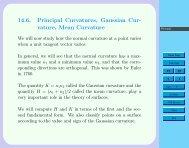 14.6. Principal Curvatures, Gaussian Cur- vature, Mean Curvature