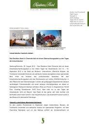 PRESSEMITTEILUNG Industriekultur hautnah ... - Seaside Hotels