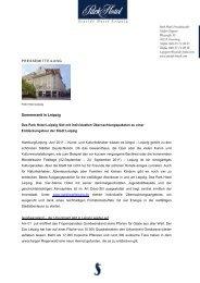 Park Hotel Übernachtungspakete_2011 final - Park Hotel Leipzig