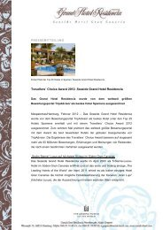 Travellers´ Choice Award 2012 - Seaside Hotels
