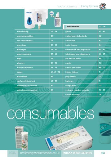 5. Consumables - Henry Schein