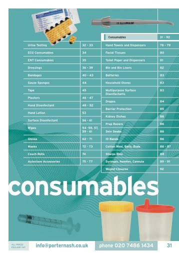 consumables - Henry Schein