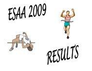 2009 Elementary Track Results - Lakehead Public Schools