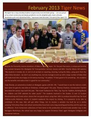 February 2013 Tiger News - Lakehead Public Schools