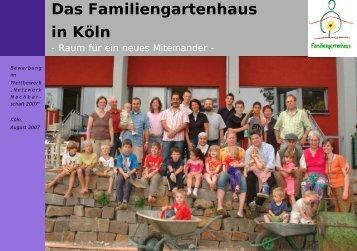 Das Familiengartenhaus in Köln