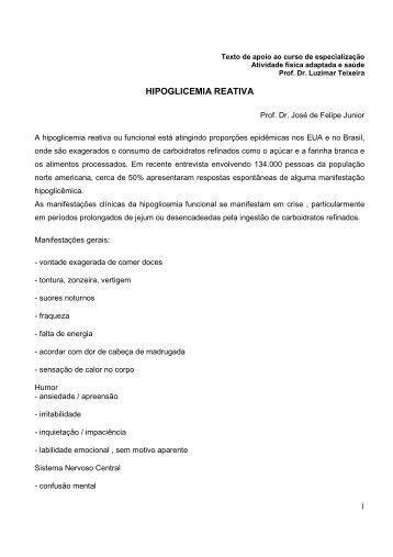 HIPOGLICEMIA REATIVA - Luzimar Teixeira