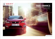 Download the SEAT finance PDF brochure (1.0MB)